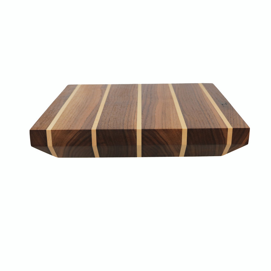 Thick Maple and Walnut Cutting Board - Muskoka Woodworking