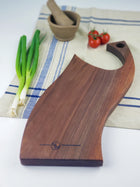 Modern Curved Chopping Board - Walnut - Muskoka Woodworking