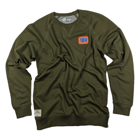 76 French Terry Crew - Military Green
