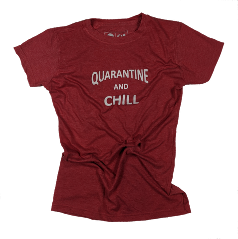 Wmn's Quarantine and Chill tee - RED