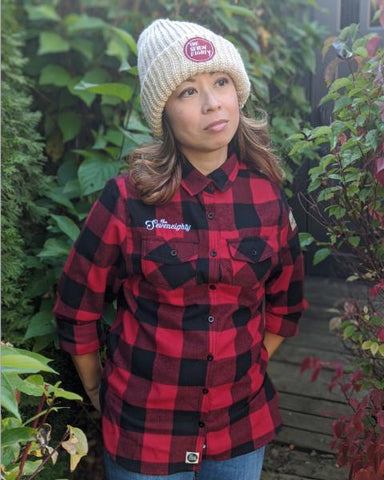 Women's Campfire shirt - Red/Black