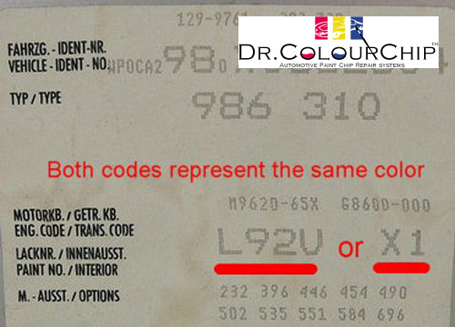 Locating Your Paint Code – Dr Colorchip Australia