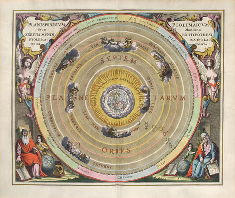 The planisphere of Ptolemy, or the mechanism (e.g. the movements) of the heavenly orbits following the hypothesis of Ptolemy laid out in a planer view.