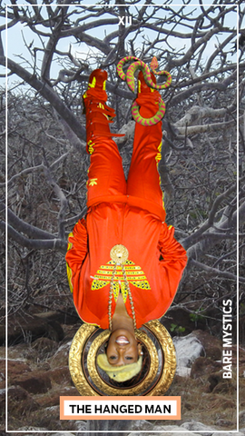Missy Elliot as The Hanged Man Tarot