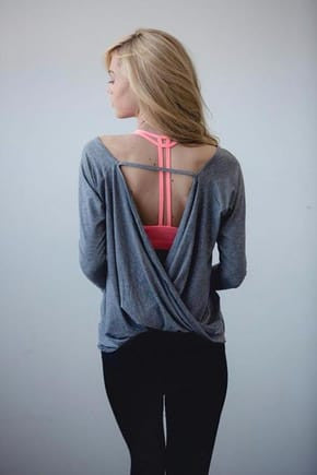 Women's Open Back Yoga Top