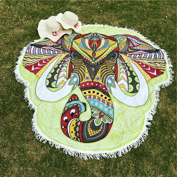 Bohemian Rainbow Elephant Throw