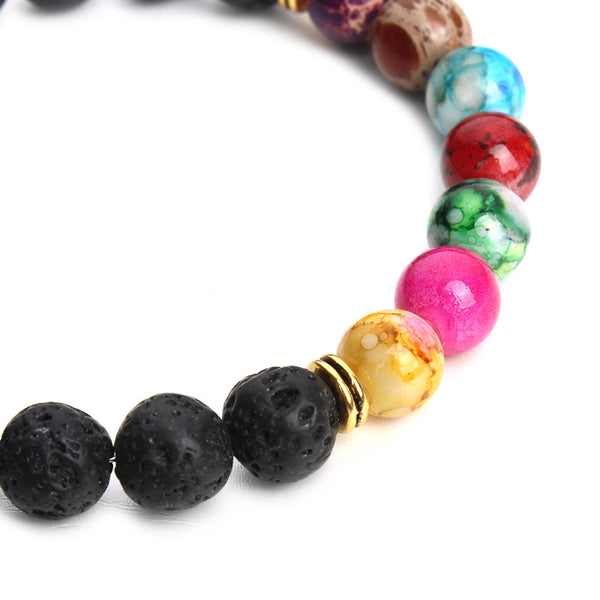 natural black lava stone bracelet