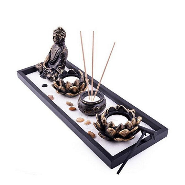 Feng Shui Zen Garden with Lotus Incense Burner