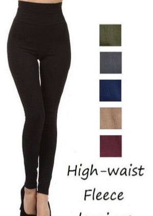Fleece Lined+Tummy Control Leggings (Multi Color)