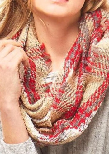 Plaid Check Infinity Scarf - Southern Native