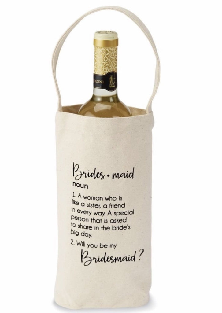 "Bridesmaid "" Ask "" Wine Bag - Southern Native"