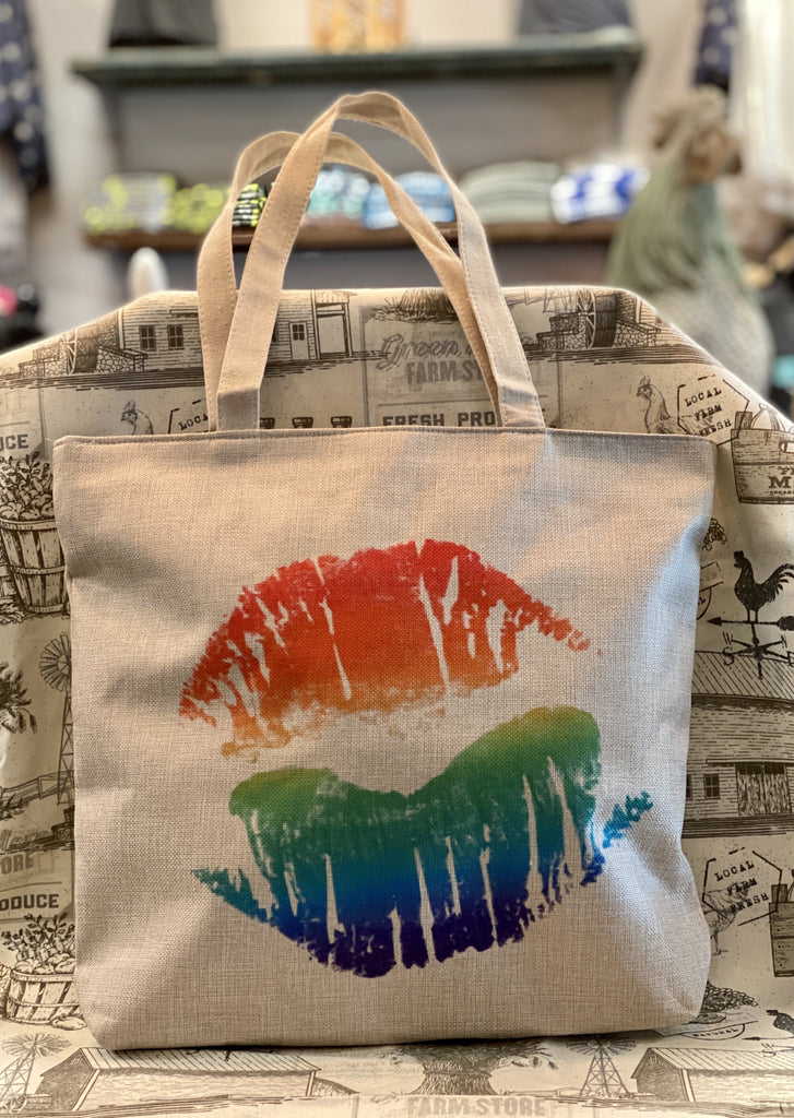 Rainbow Lips Tote Bag - Southern Native