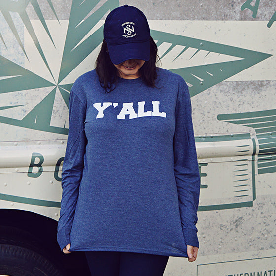 SN: Y'ALL Longsleeve - Navy Frost - Southern Native