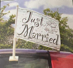 Wedding Car Flag