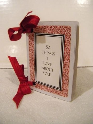 52 things I love about you deck of cards