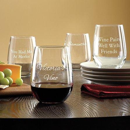 create your own stemless wine glasses