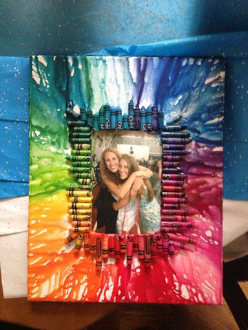 DIY crayon explosion picture frame