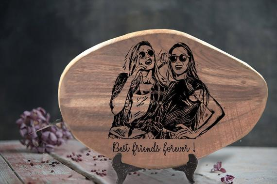 Wood Best Friends Gift