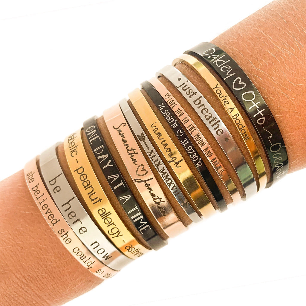 bracelets with sayings
