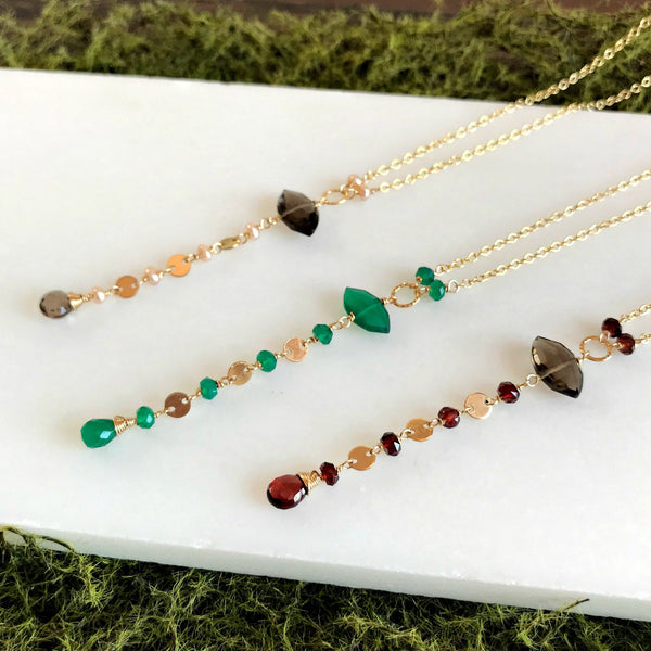 gemstone necklace daniela alberts