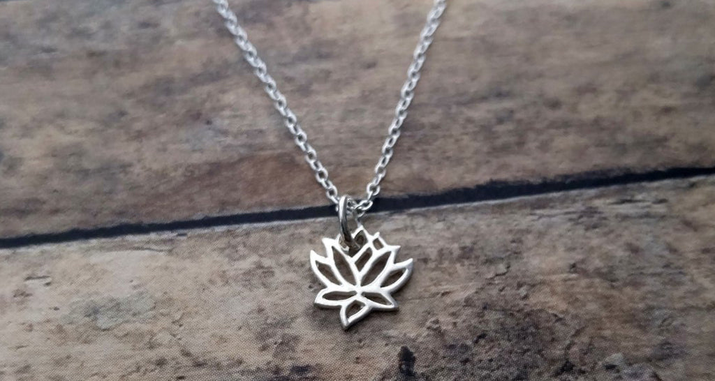 Everyday Lotus Charm Necklace