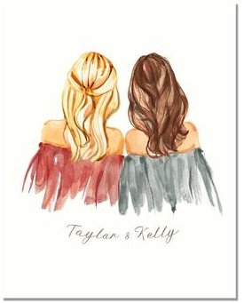 9 Personalized Best Friend Instant Download Print