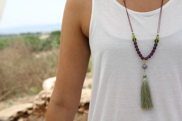 tassel necklace jewelry by tm