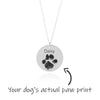 Dog Paw Necklace - Sterling Silver