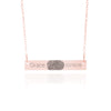Rose Gold Fingerprint Necklace With Date