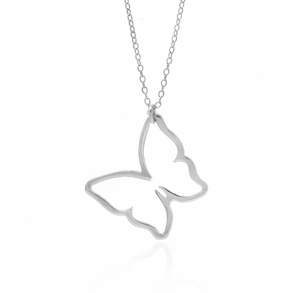 Butterfly Necklace - Sterling Silver
