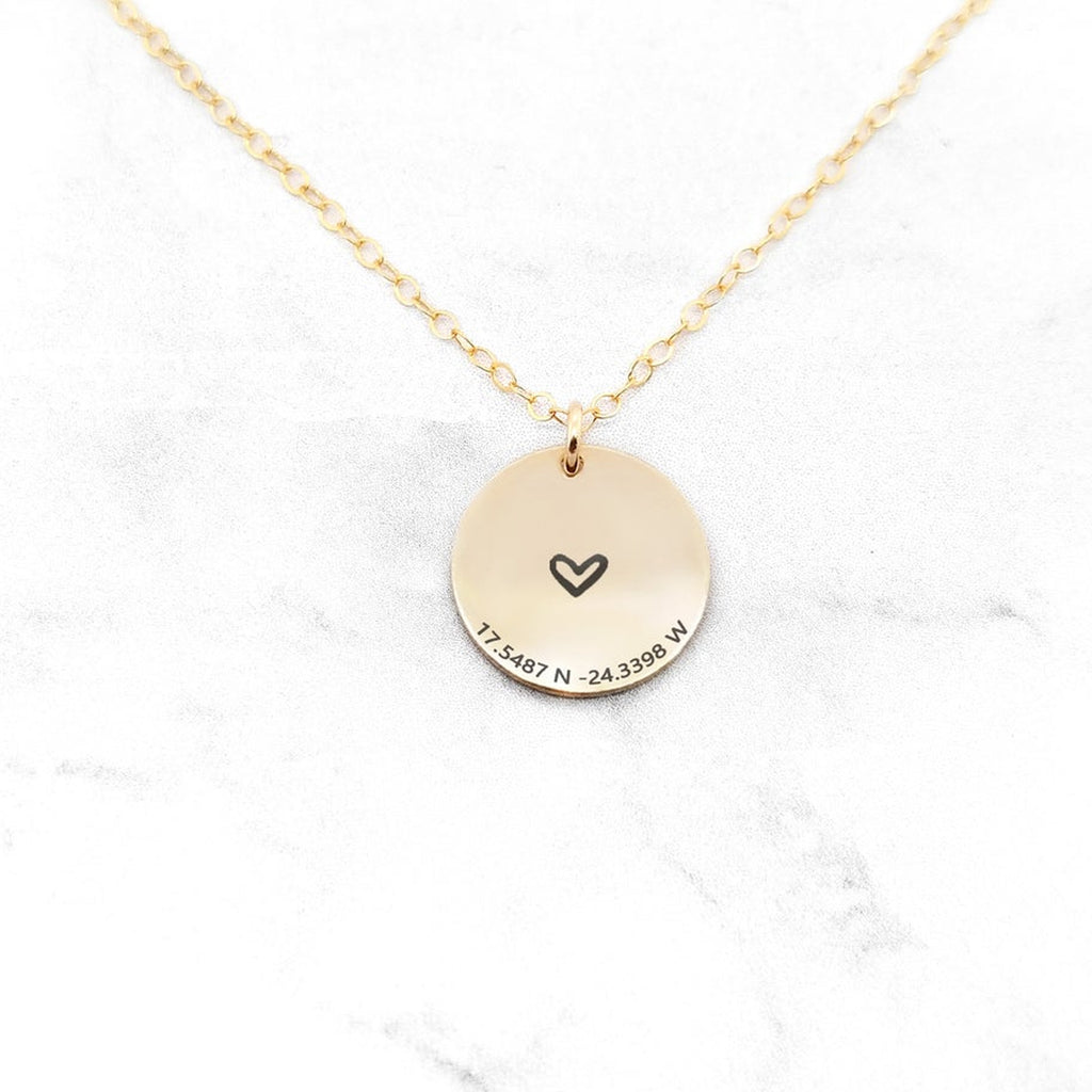 Coordinates Necklace - Personalized Location Necklace