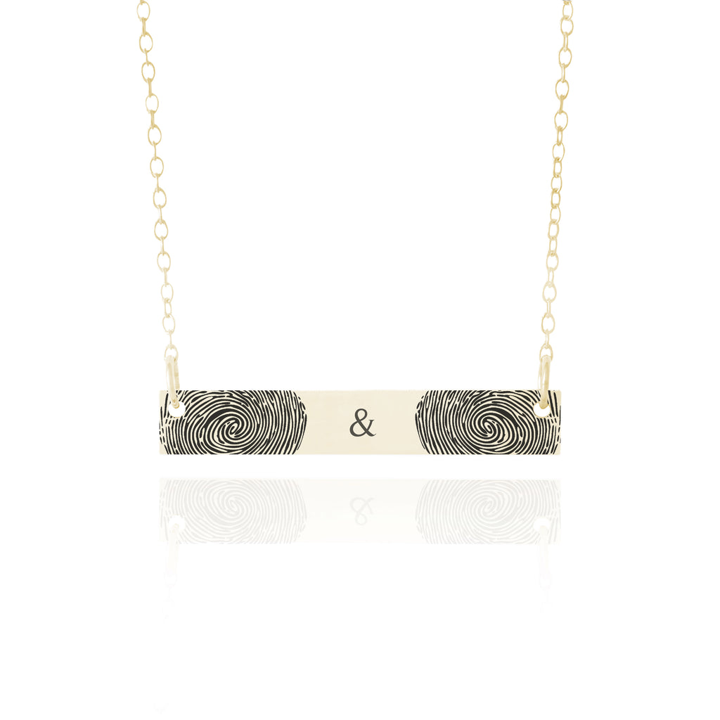 Couple's Fingerprint Necklace