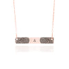 Couple's Fingerprint Necklace Rose Gold