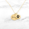 Custom Dog Paw Necklace - Paw Print Necklace