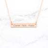 Custom Name Bar Necklace - Personalized Gift For Mom
