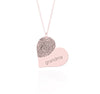 Fingerprint Heart Necklace Memorial