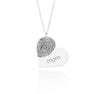 Fingerprint Heart Necklace Silver