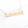 Gold Handwriting Necklace