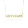 Gold Bar Necklace With Coordinates