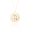 Gold Disc Handwriting Necklace