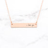 I Love You Necklace - Personalized Bar Necklace