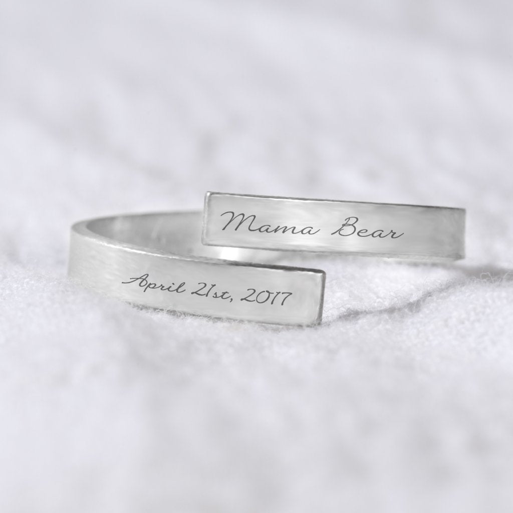 Mama Bear and Date Wrap Ring