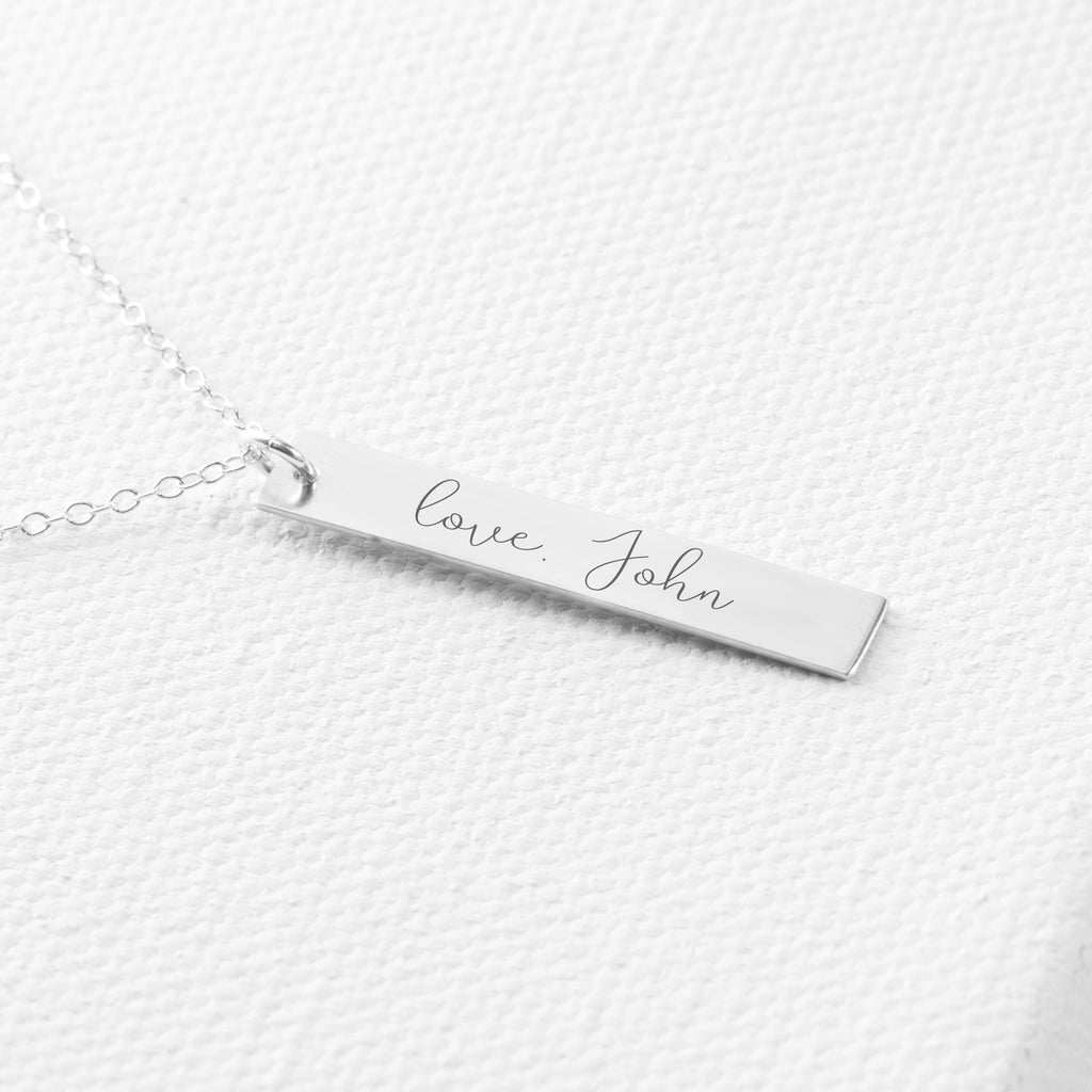 Handwriting Memorial Necklace