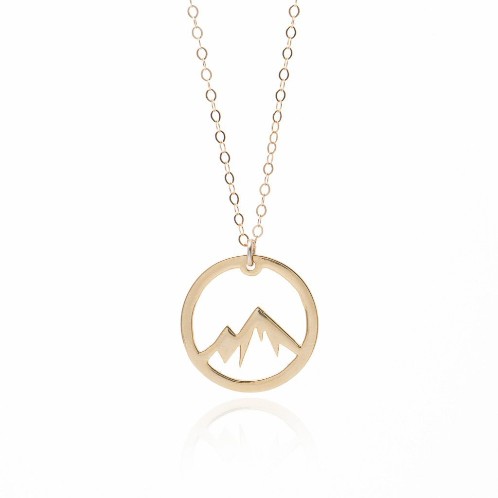 Circle Mountain Necklace -Gold Adventure Necklace