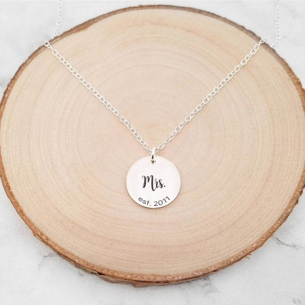Mrs. Necklace - Anniversary Date Necklace