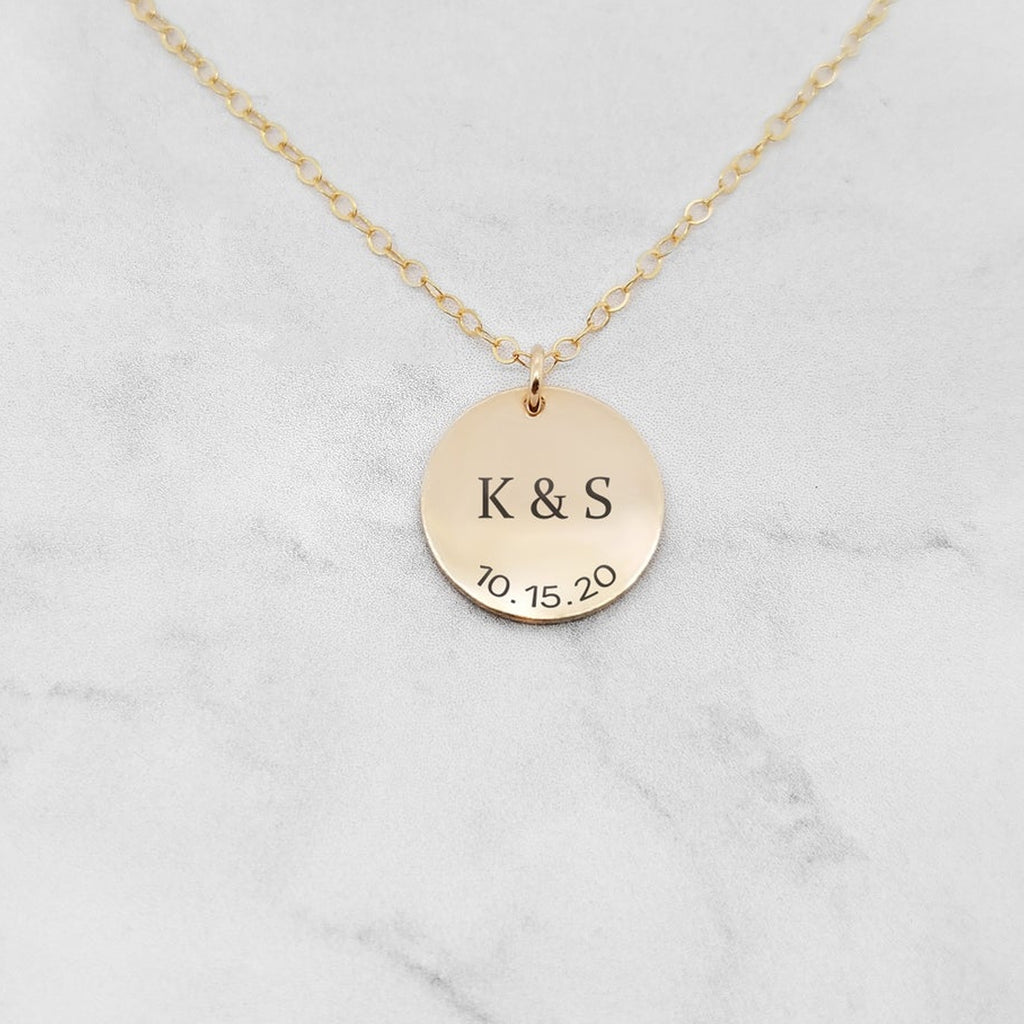 Personalized Anniversary Necklace - Anniversary Gift For Her