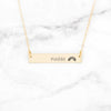 Personalized Rainbow Bar Necklace - Gold