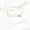 Rainbow Bar Necklace - Gold