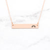 Rainbow Bar Necklace - Rose Gold