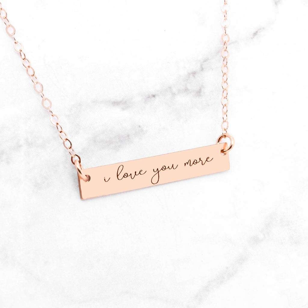 Rose Gold Handwriting Necklace